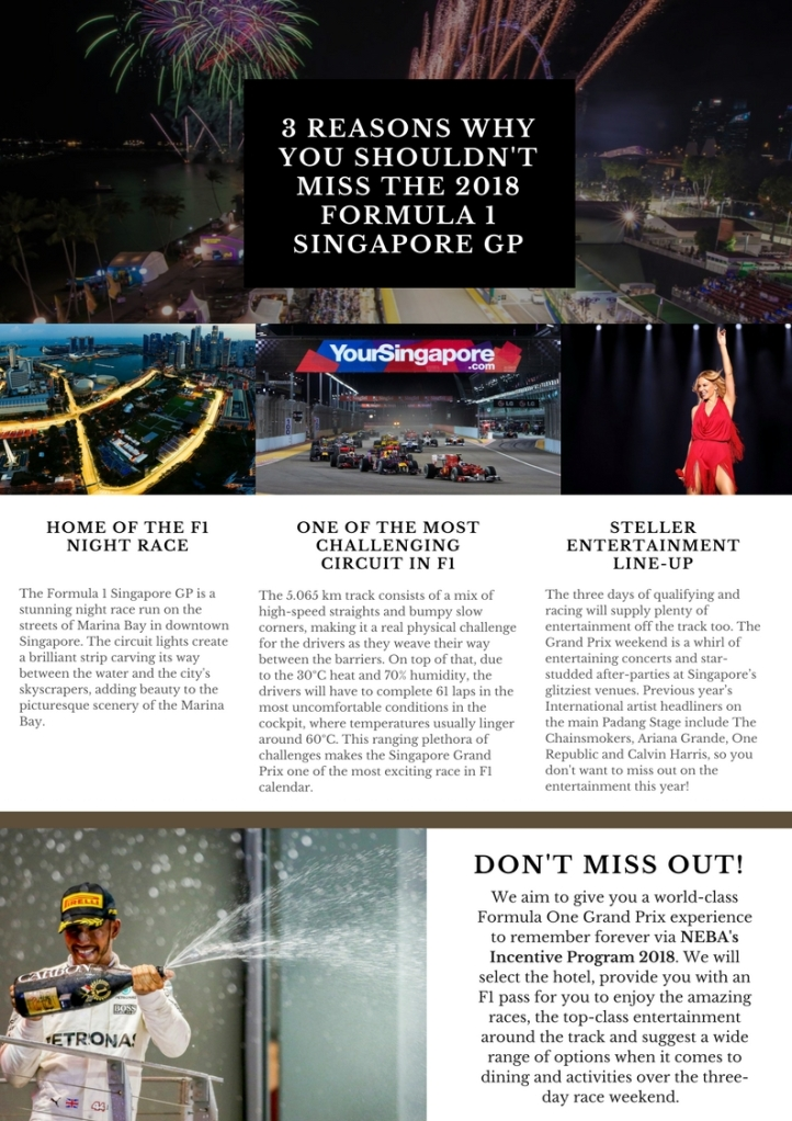 3 Reasons Why You Shouldn't miss The 2018 f1 Singapore Grand Prix