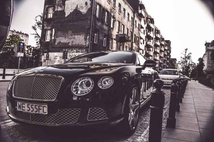 photography of black bentley