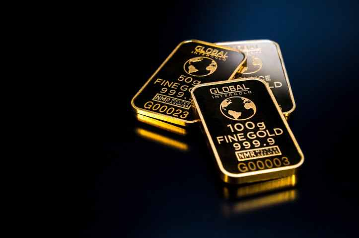 three gold bars